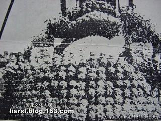 花塔下层的大立菊