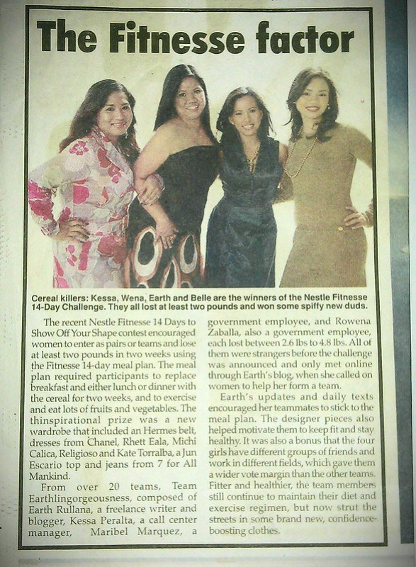 Philippine Star Lifestyle Section Nestle Fitness Cereal Feature
