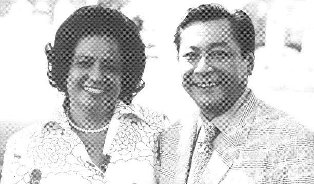 """Concepcion """"Chong""""  Cruz Barrett and Governor Carlos G. Camacho"""