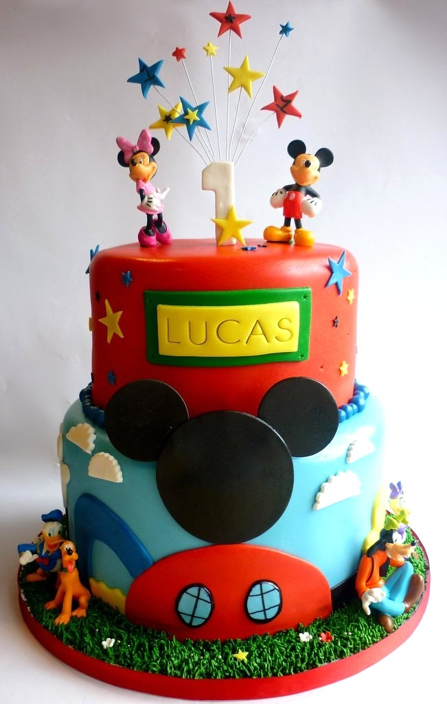 Mickey Mouse Clubhouse 1st Birthday Cake Swirlsbakery Flickr