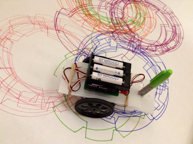 Friday Night Drawbot at the Art Jamboree