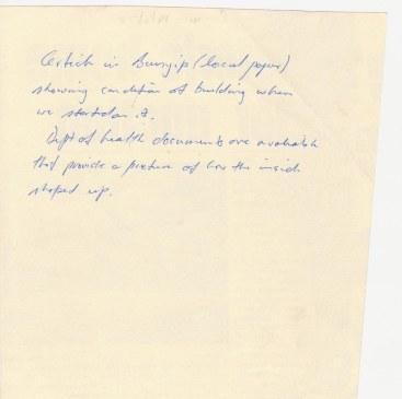 Handwritten note on reverse of Bunyip Article