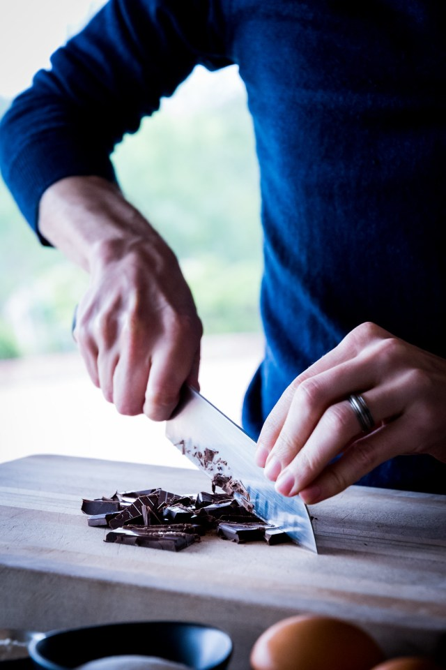 chopping the chocolate first helps it melt faster