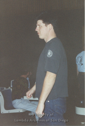 P001.145m.r.t Project Lifegaurd Bowling 1991: man ready to bowl