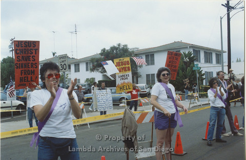 P001.045m.r Pride 1991: Anti-gay protesters