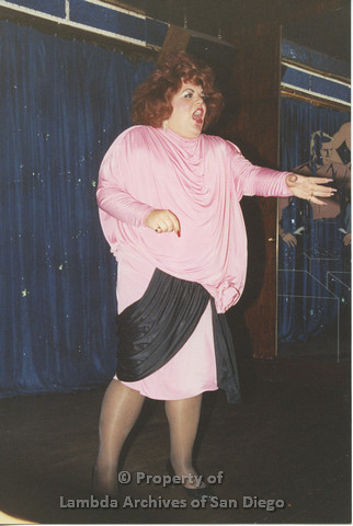 P001.248m.r.t Through The Years Fundraiser: drag queen wearing a pink dress