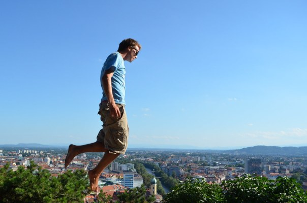 Floating over Graz, Austria