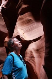Man in Antelope Canyon