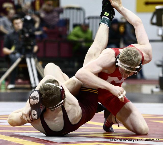 125 #5 Tim Lambert (Nebraska) fall #6 Ethan Lizak (Minnesota) 3:54