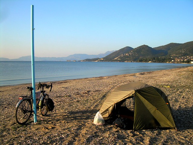 The first ice on my tent on the coast was here by bryandkeith on flickr