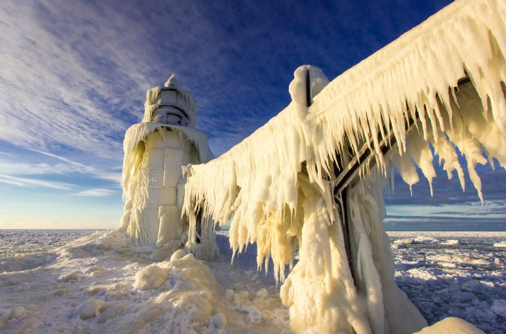 Image result for Queen Elsa must have frozen this lighthouse herself.