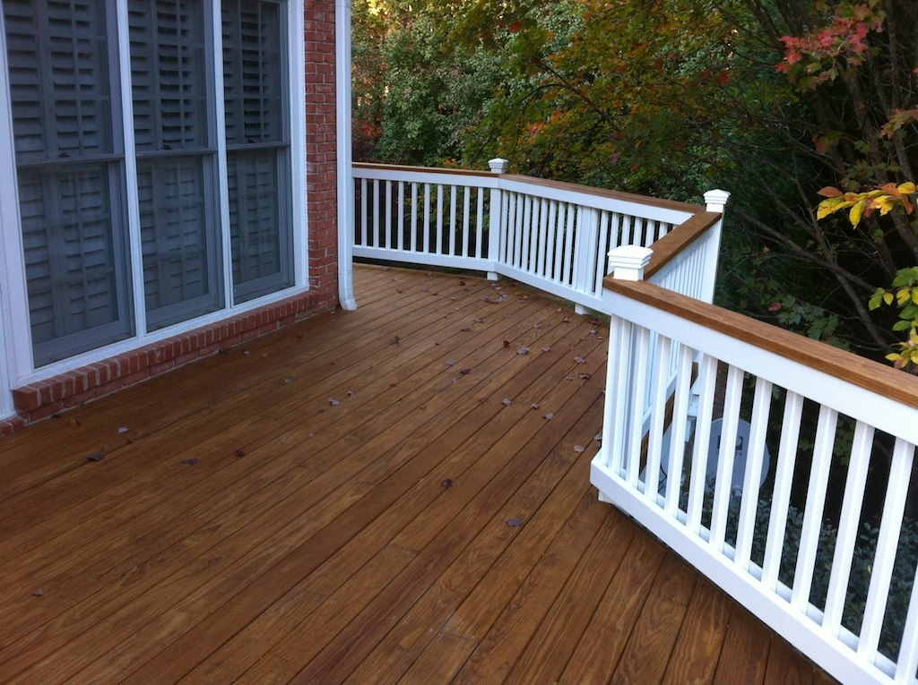 Pressure Treated 2X6 Kdat Decking With Painted Handrail | Pressure Treated Graspable Handrail