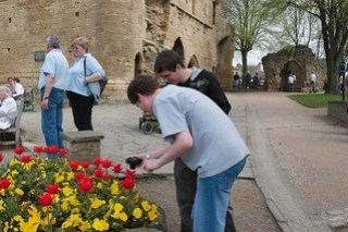What have we here - boys interested in flowers!