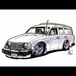 Volvo Volvo240 Stationwagon Classiccar Illustration Flickr