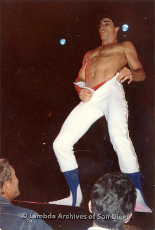 1982 - 'Summer Heat' at the Sports Arena in Point Loma: Variety show strip tease.