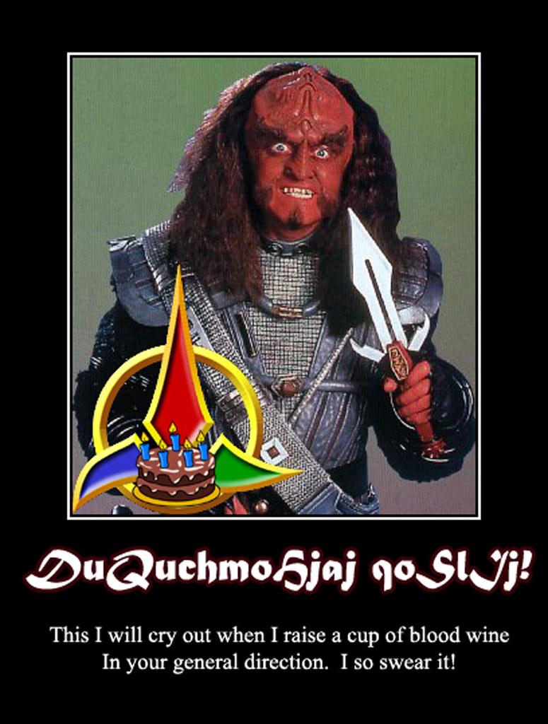 Klingon Motivational B Day Card 2 Gowron My Second Kling Flickr