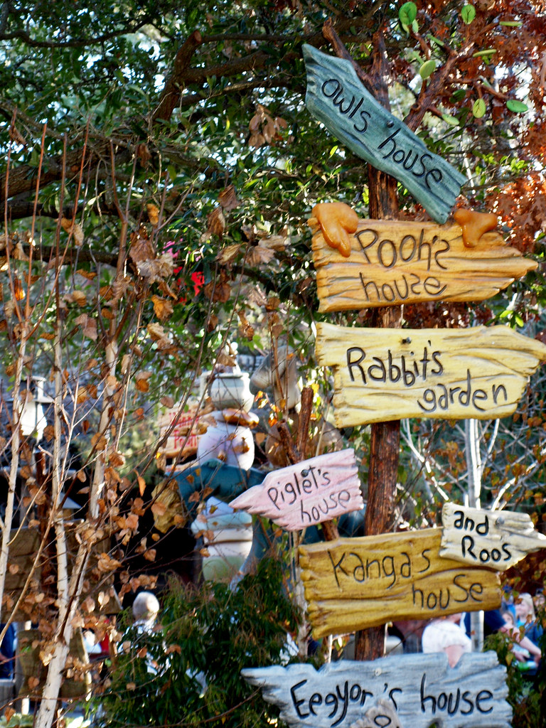Winnie The Pooh Directions Sign The Sign For Gopher S