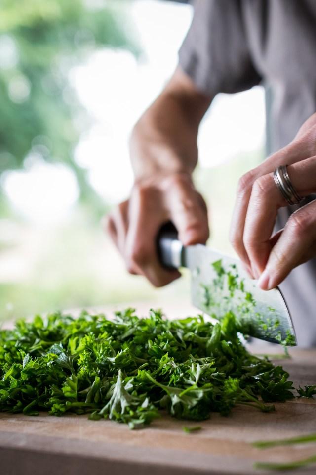 piles of parsley