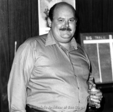 C. 1980 - Ray Finch's Birthday at Diablo's Lesbian bar on El Cajon Blvd: Ray Finch celebrating his birthday.