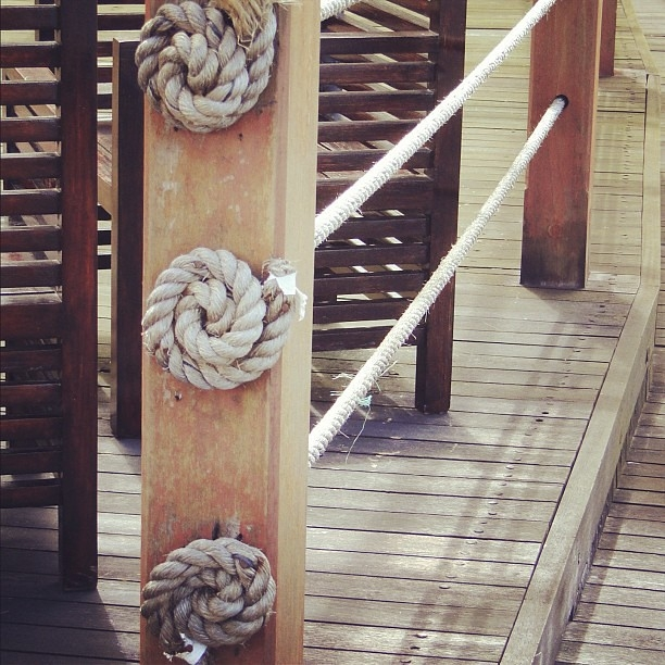 Nautical Rope Ends For Decking Ideas Lynne Knowlton Flickr | Nautical Rope Stair Railing | Ship Rope | Closed Staircase | Cottage Style | Banister | Minimalistic