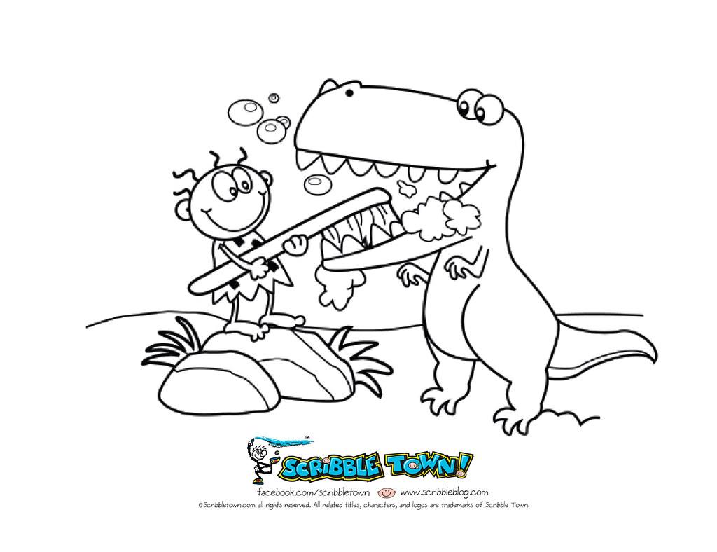 Zippy Brushing Dinos Teeth