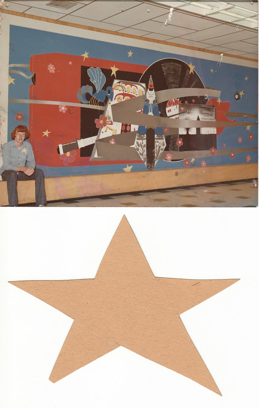 Mural in Hillcrest High School cafeteria, Springfield, MO; spring 1976