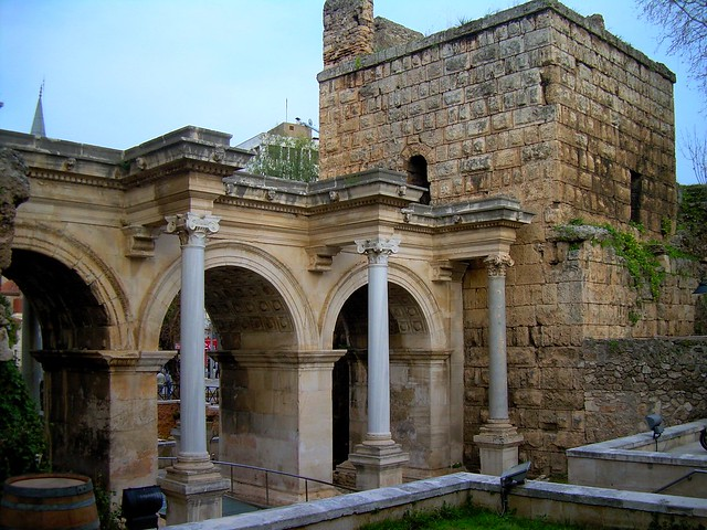 Hadrian's Gate, one of the entrances to Kaleçi by bryandkeith on flickr