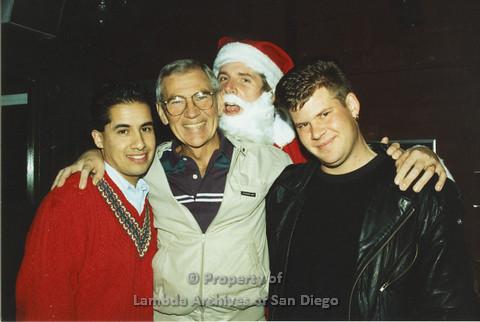 P001.295m.r.t X-mas: 3 men with Santa