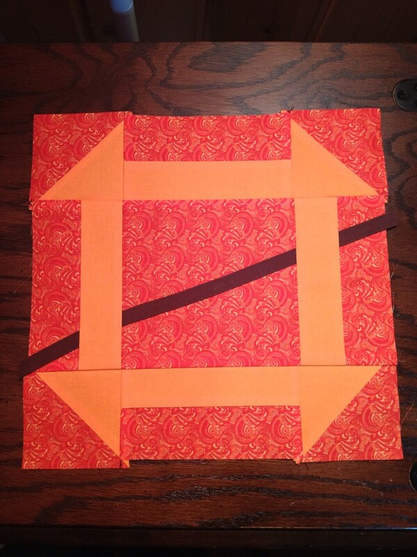 My first completed quilt block! Not perfect, but done. :)