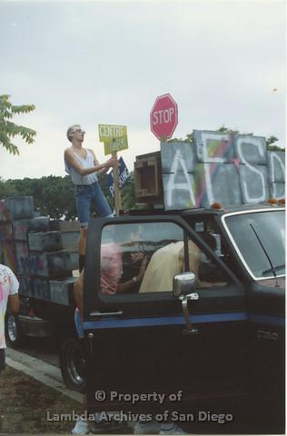 P001.042m.r Pride 1991: AIDS Foundation San Diego Parade Float