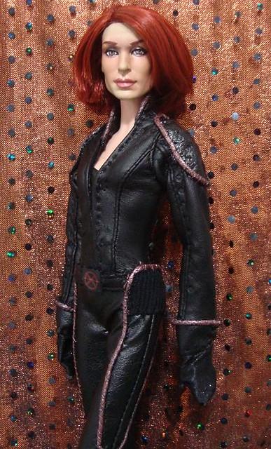 Jean Grey doll | Famke Jansen doll i made, Head was ...