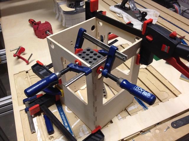 Clamping a Tantillus 3d printer frame