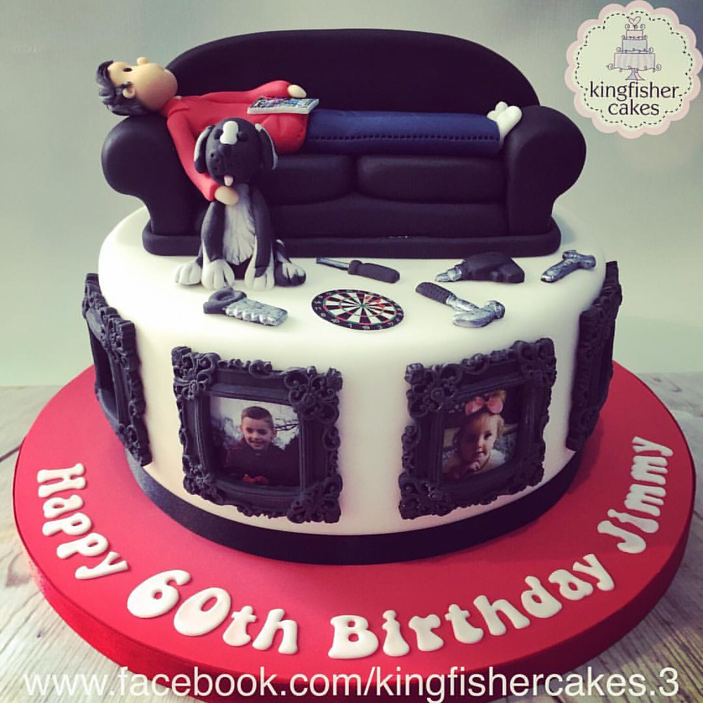 Another Of The Weekends Cakes A Man S 60th Birthday Cake Flickr