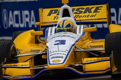 Helio Castroneves close-up (Turn 3, Saturday)