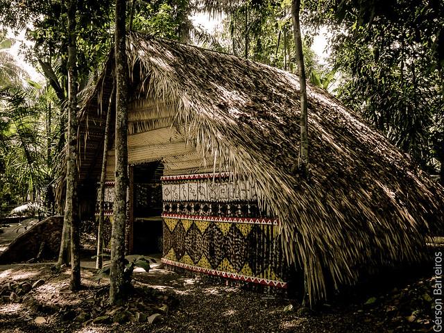 Cabana, no Bosque da Ciência, INPA.