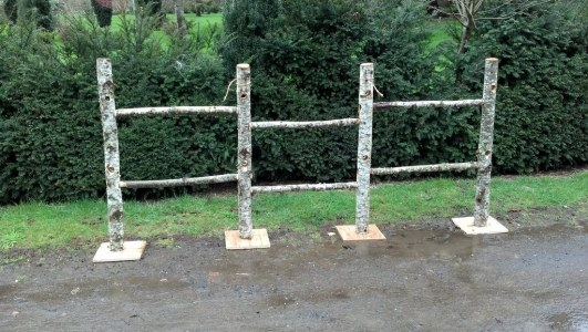 Natural Wood Birch Fence