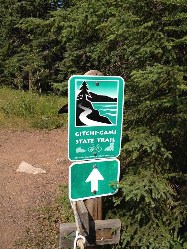 Gitchi-Gami State Trail sign