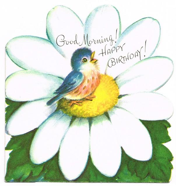 Good Morning Happy Birthday Vintage Rust Craft Birthday Flickr