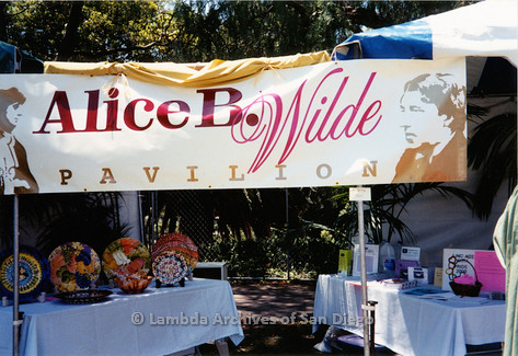 P018.173m.r.t San Diego Pride Festival 2000: Outside view of Alice B. Wilde Pavilion