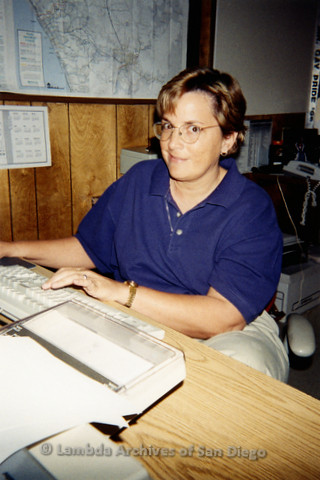 P239.031m.r.t The Center on Normal Street: Woman at desk in Center