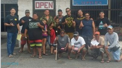 Some of the anglers who entered the Nenue fishing tournament.