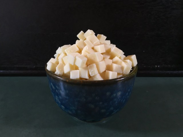 cubed gruyère