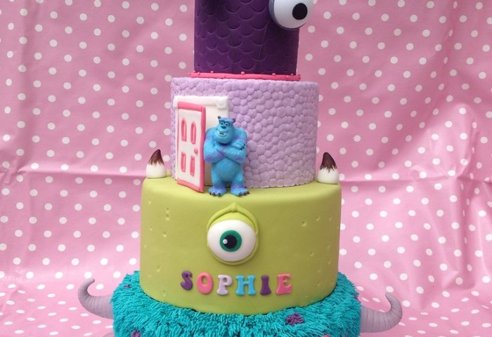 Monsters Inc 18th Cake Original Design By The Royal Baker Flickr