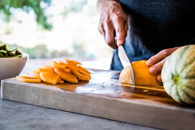 orange cantaloupe