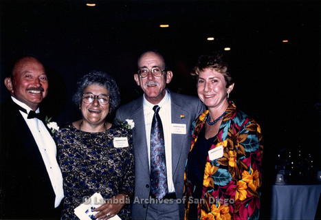 P199.002m.r.t San Diego Walks for Life 1989 event with Herb King, Virginia Uribe, Jess Jessop, and another woman standing together
