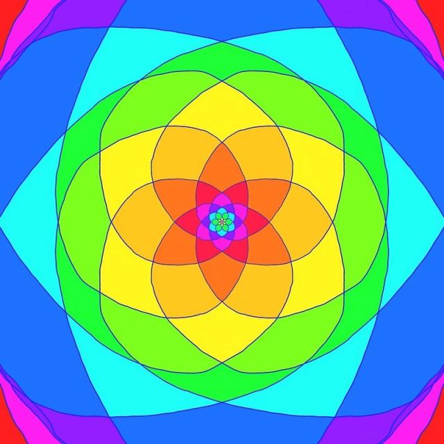 Rainbow Flower Mandala