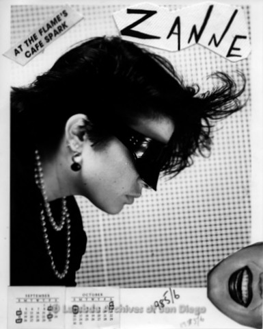 1984 - Photo shoot with Zanne at the 'Cafe Spark' inside The Flame Lesbian Dance Club.