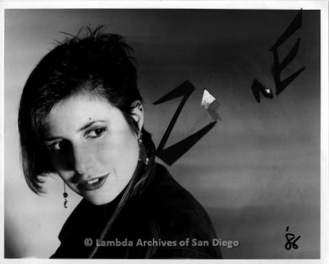 1986 - Portraits of San Diego Lesbian Performer Zanne: