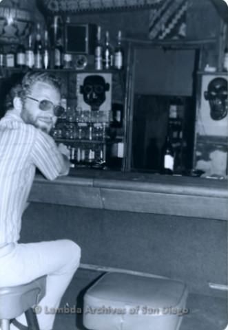 P355.053m.r.t Boom Boom Room Laguna Beach: Man sitting at the bar