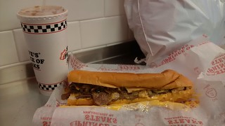 Philly cheese steak at Steve's Prince of Steaks